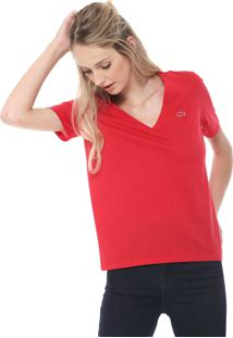 Camiseta Lacoste Logo Vermelha