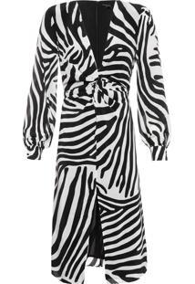 Vestido Helena Midi Zebra - Animal Print