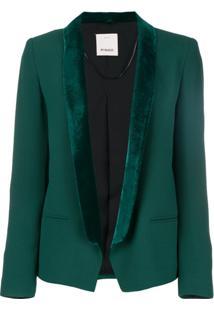 Pinko Blazer Com Abertura Frontal - Green