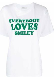 Sandro Paris Camiseta Com Estampa Everybody Loves Smiley - Branco