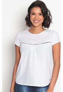 Blusa Texturizada Com Recortes Vazados-Branca-Vip Revip Reserva