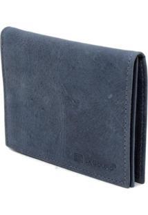 Carteira Lacouro Em Couro Fossil Azul Ref 3052