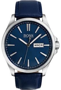 Relógio Hugo Boss Masculino Couro Azul - 1513465