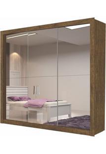 Guarda Roupa Amapá 3 Portas Com 3 Espelhos Ypê Touch