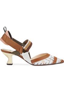 Fendi Sapato Com Fixação No Tornozelo 'Colibri' - Marrom