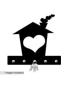Porta Chaves Home Love- Preto- 20X18Cm- Wevanswevans