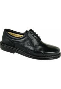 Sapato Social Brogue Opananken Masculino - Masculino-Preto