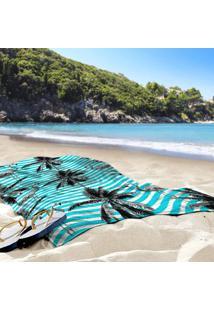 Toalha De Praia / Banho Tropical Abacaxi Blue
