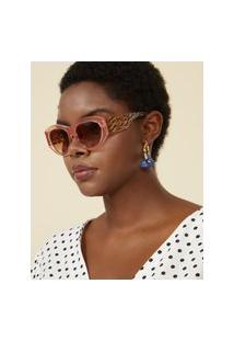 Amaro Feminino Óculos De Sol Gatinho Oval Acetato Reciclado, Rosa Claro