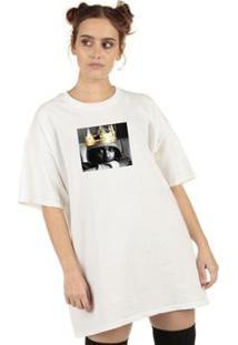 Camiseta Skull Clothing Lamar King Feminina - Feminino-Branco