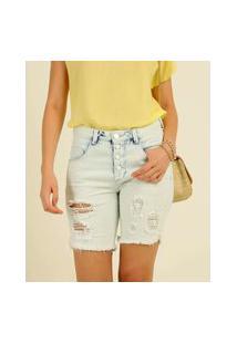 Bermuda Feminina Destroyed Delavê Zune Jeans