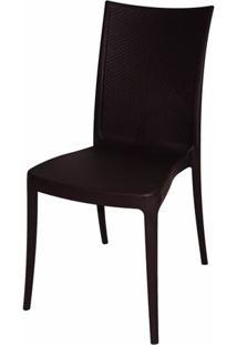 Cadeira Laura Fibra De Vidro Cor Marrom - 19614 Sun House