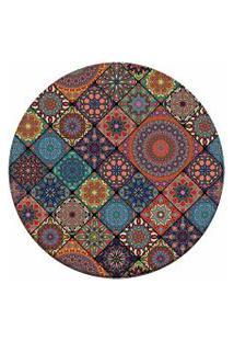 Tapete Love Decor Redondo Wevans Multi Mandalas Multicolorido 84Cm