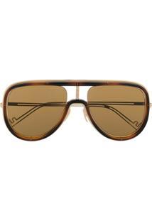 Fendi Eyewear Óculos De Sol Aviador M0068S - Dourado