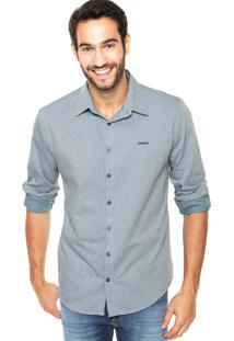 Camisa Sommer Straight Basic Print Azul