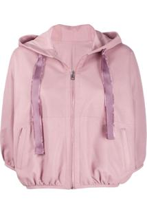 Red Valentino Hooded Cropped Jacket - Rosa