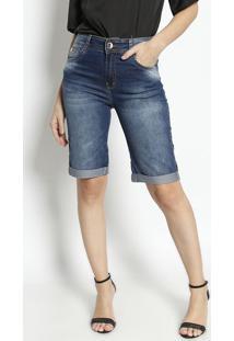 Bermuda Jeans Estonada- Azul Escurodimy