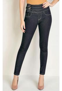 Calça Jeans Hot Pants Cigarrete Sawary