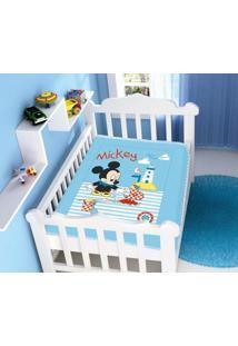 Cobertor Infantil Disney Mickey Praia Barquinho Azul Jolitex
