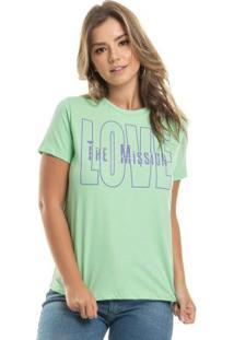 T-Shirt Com Estampa Destroyed Verde