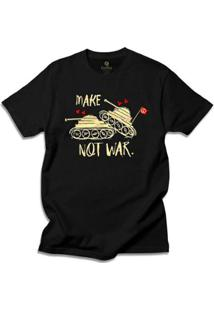 Camiseta Hippie Cool Tees Tie Dye Make Love Not War - Masculino