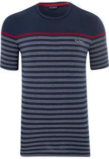 Camiseta Listradora Navy Spin