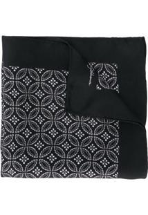 Dolce & Gabbana Echarpe Com Estampa Geométrica - Preto