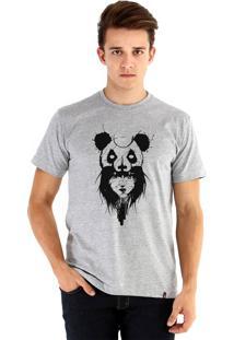 Camiseta Ouroboros Garota Panda Cinza