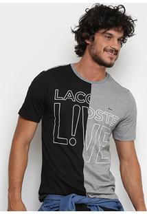 Camiseta Lacoste Live Bicolor Masculina - Masculino