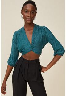 Blusa Curta Decote Twist