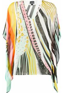 Just Cavalli Blusa Color Block - Amarelo