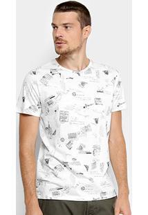 Camiseta Manga Curta Colcci Estampada Masculina - Masculino