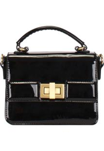 Bolsa Top Handle Verniz Mormaii - 44723 - Preto