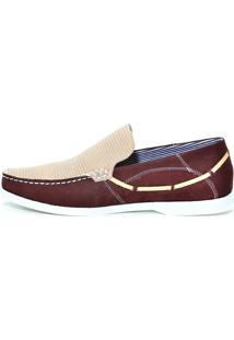 Dockside Shoes Grand Bordo Areia - Masculino