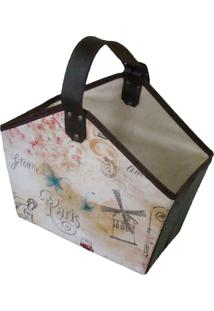 Cesto Organibox Revisteiro - Paris 39X35X16