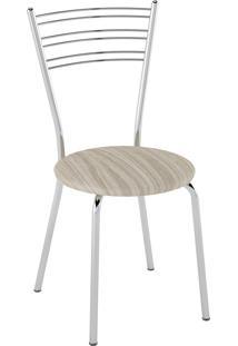 Kit C/ 2 Cadeiras Assento Amadeirado Caramelo Pozza