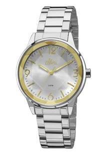 8ff8967735a Extra.com.br. Relógio Aço Inox Vidro Analógico Feminino Allora Cristal  Diamante ...
