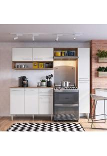 Cozinha Compacta 4 Peças 7 Portas Madri Siena Móveis Teka/Branco