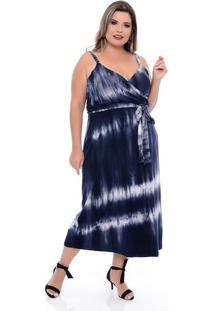 Vestido Amplo Transpassado Plus Size