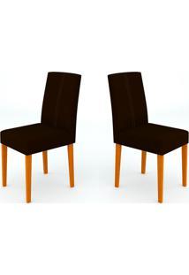 Conjunto Com 2 Cadeiras Heloíse I Ipê E Preto