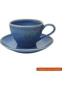 Conjunto Para Para Chá Com 12 Peças L Hermitage Iii Azul