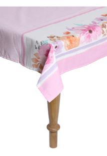 Toalha De Mesa Karsten Dia A Dia Florata Quadrada Rosa