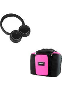 Kit Bolsa Térmica Dagg Fitness Rosa G Headphone Bluetooth Msx