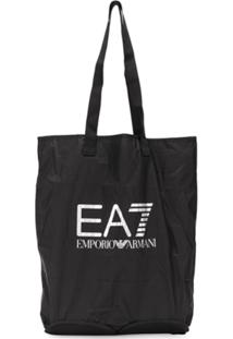 Ea7 Emporio Armani Bolsa Tote Com Logo - Preto