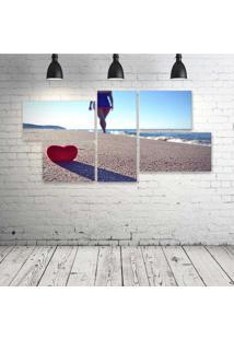 Quadro Decorativo - Love-Praia - Composto De 5 Quadros