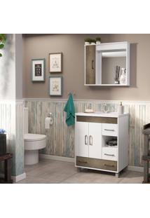 Conjunto De Banheiro Stm Móveis S77 Branco Monastrel Se