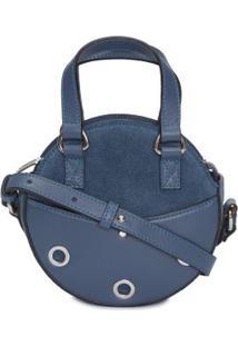 Bolsa Mini Redonda Ilhoses Bobstore - Azul