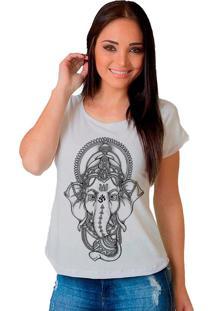 Camiseta Shop225 Elefante Branco - Branco - Feminino - Dafiti