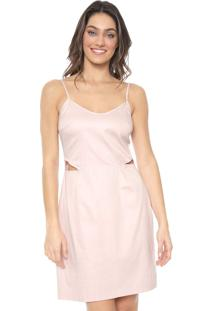 Vestido Mercatto Curto Cut Out Rosa