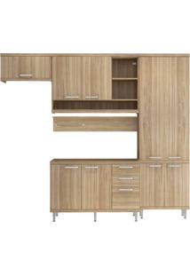 Cozinha Compacta Multimóveis Sicília 5838.132.132 Argila Se